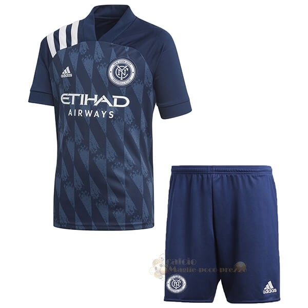 Repliche Maglie Da Calcio Home Set Completo Bambino New York City 2020 2021 Blu