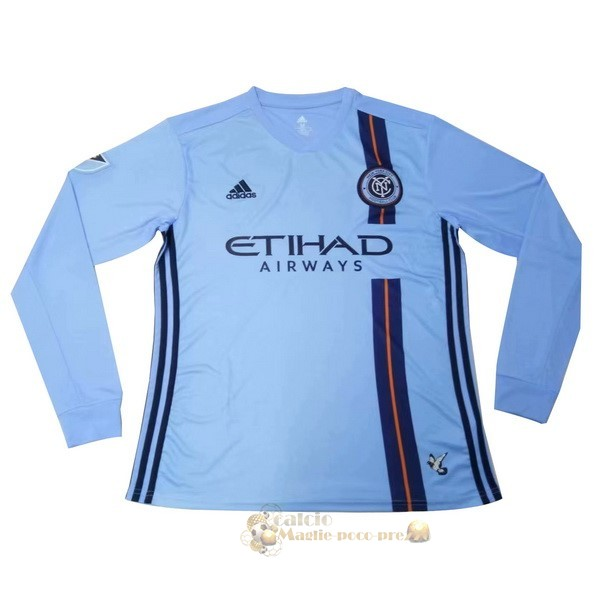 Repliche Maglie Da Calcio Home Manica lunga New YOrok City 2019 2020 Blu