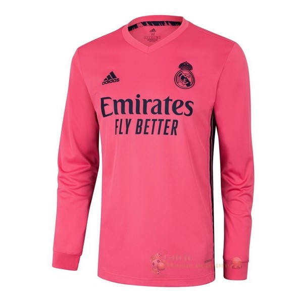 Repliche Maglie Da Calcio Away Manica lunga Real Madrid 2020 2021 Rosa